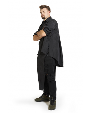 Koszula Fryzjerska Męska - czarna / granatowa